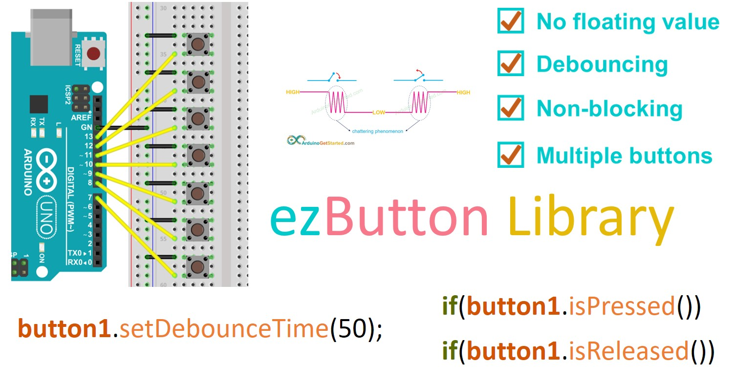 Arduino button library feature