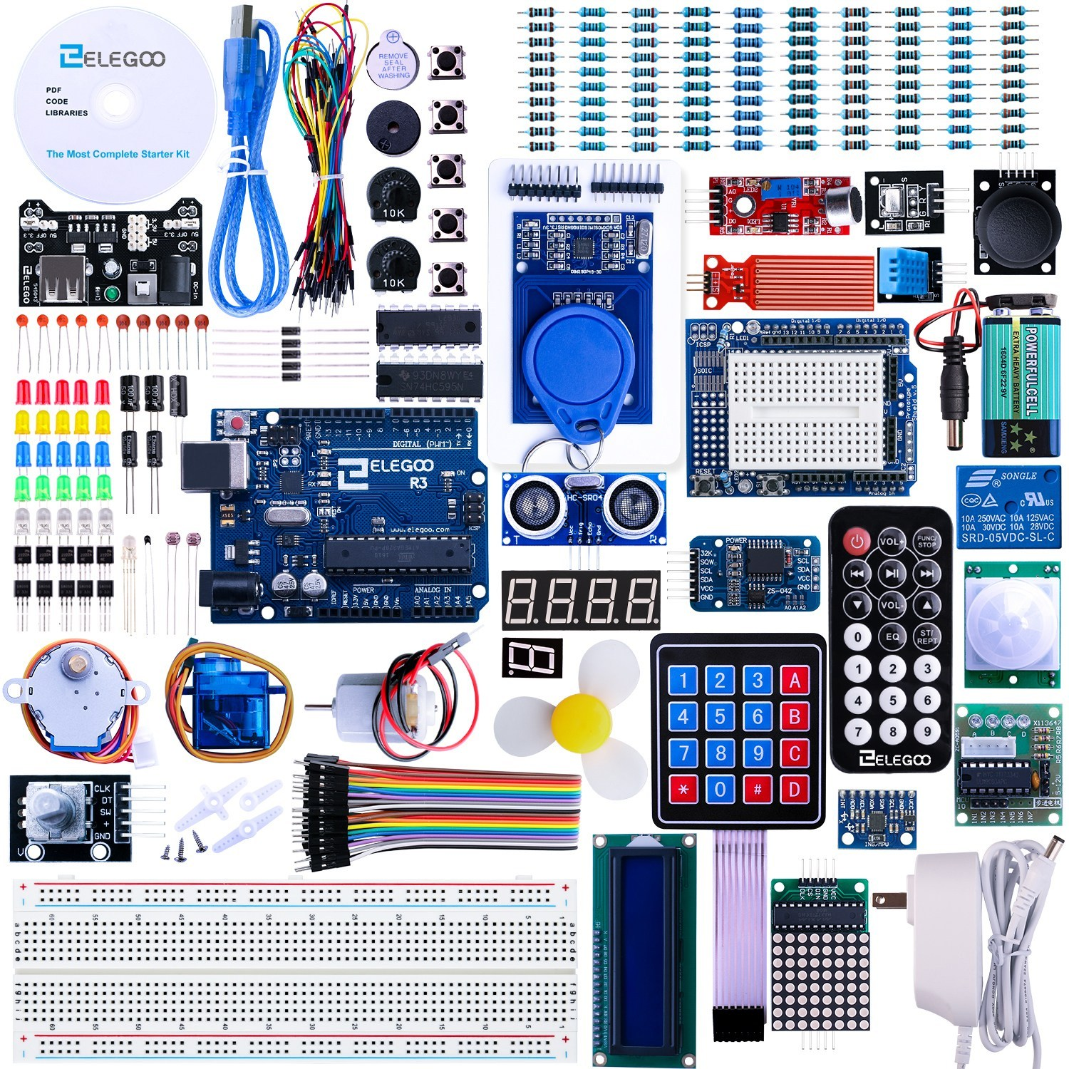 ELEGOO UNO R3 Project Most Complete Starter Kit
