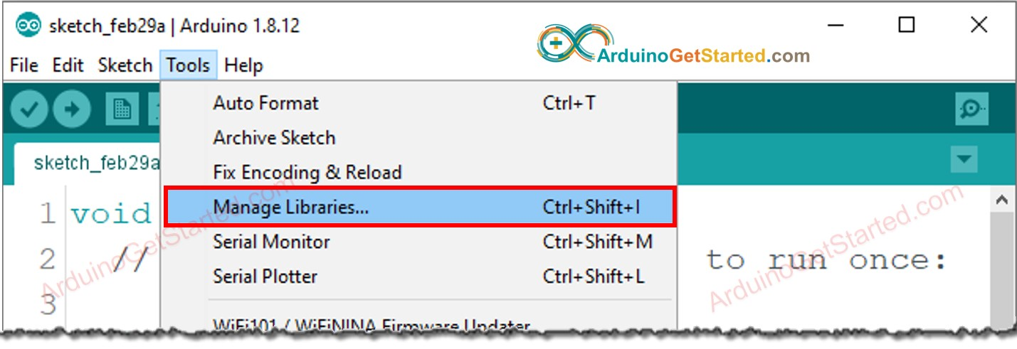 Arduino add library
