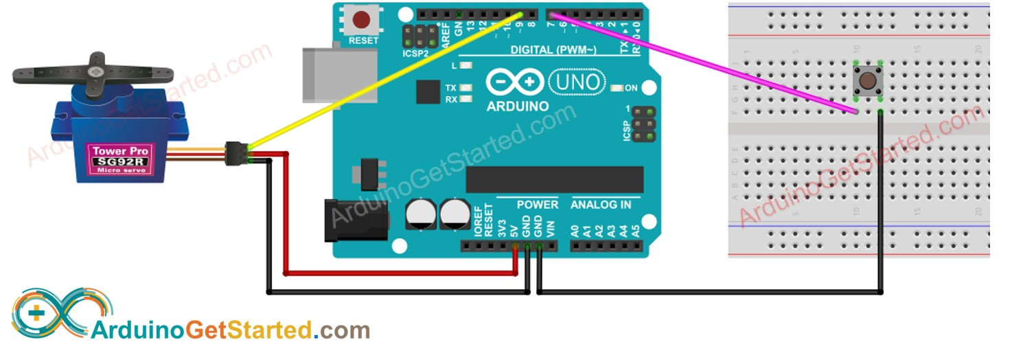 Arduino Button Servo Motor Wiring Diagram