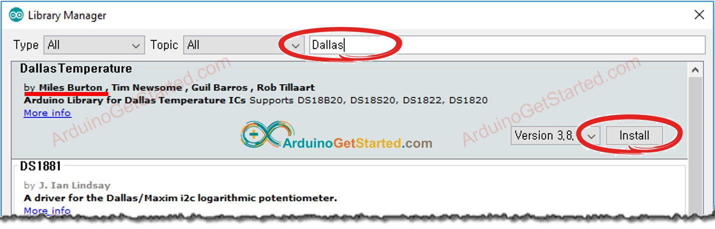 Arduino Dallas Temperature library