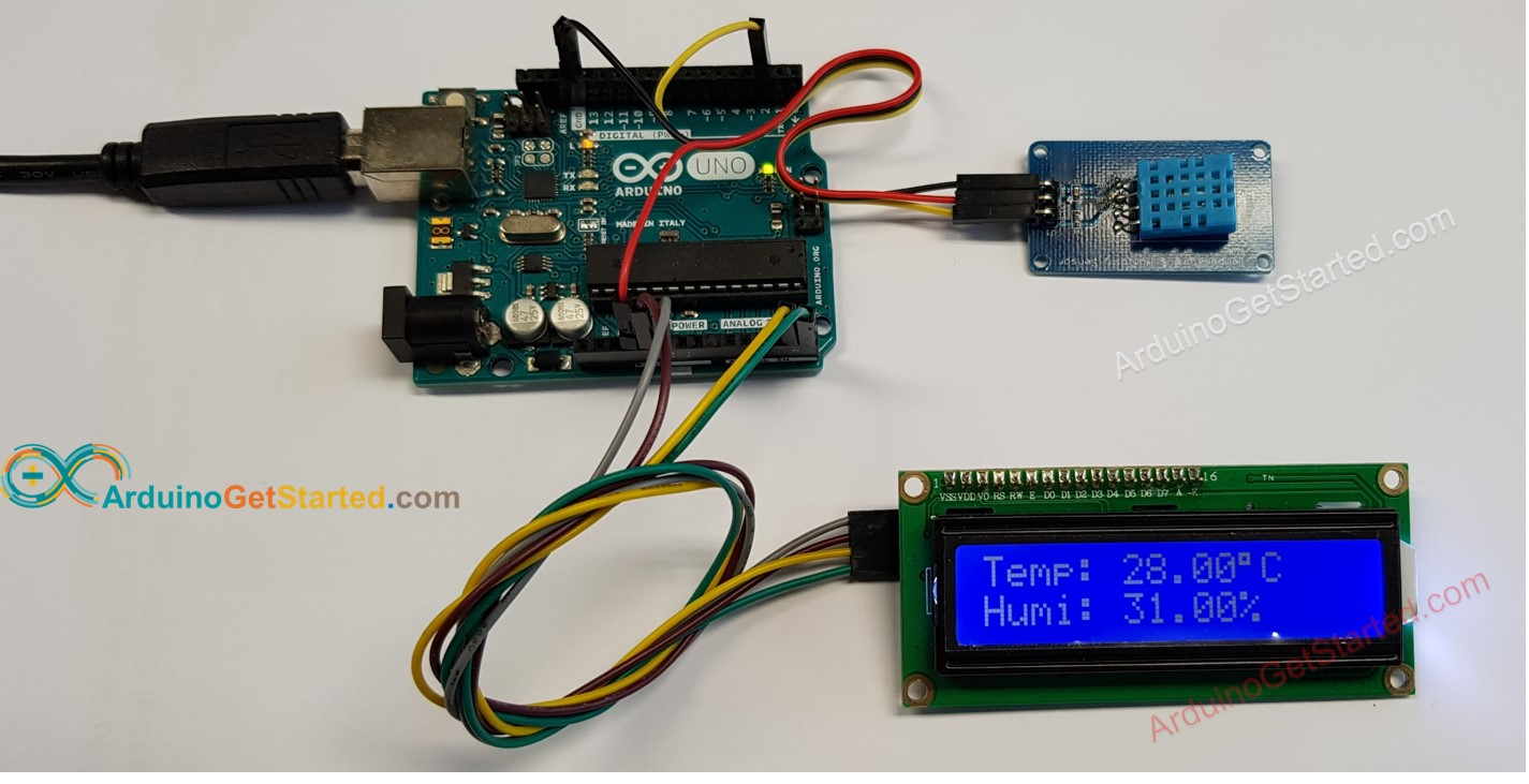 Arduino DHT11 LCD Wiring