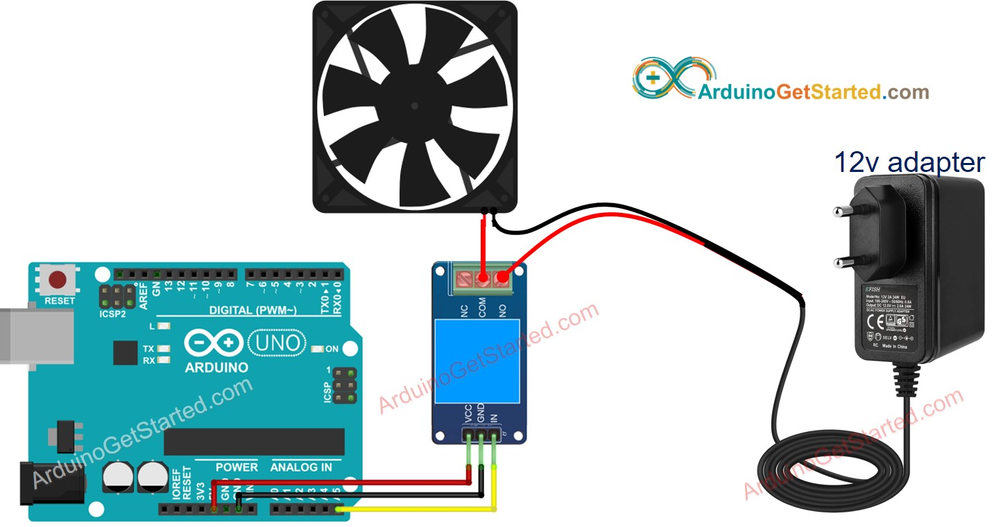 Pc Fan Wiring Diagram from arduinogetstarted.com