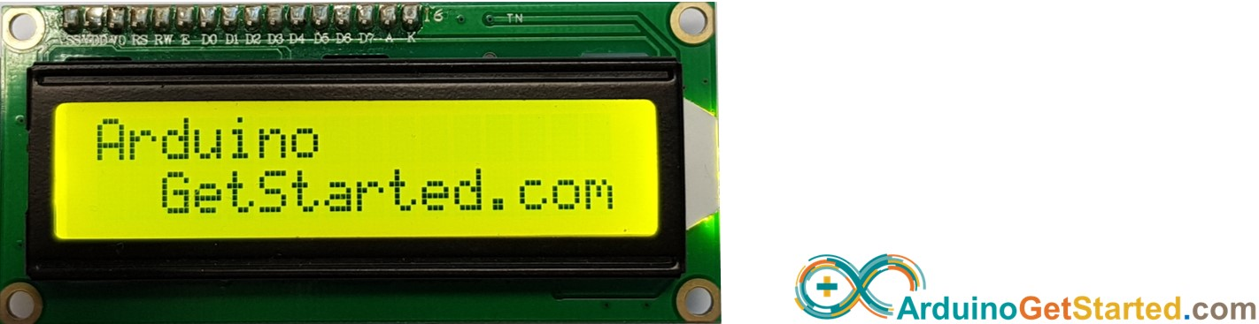 Arduino display text on LCD
