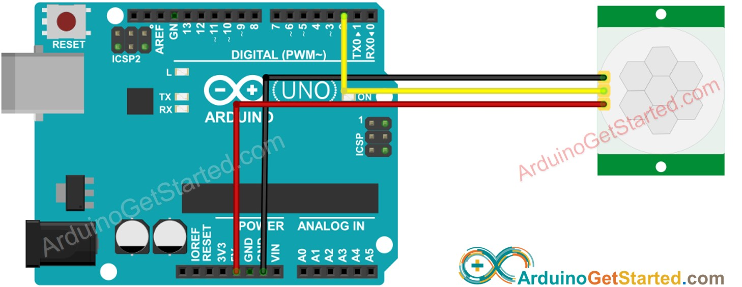 Arduino Motion Sensor Wiring Diagram