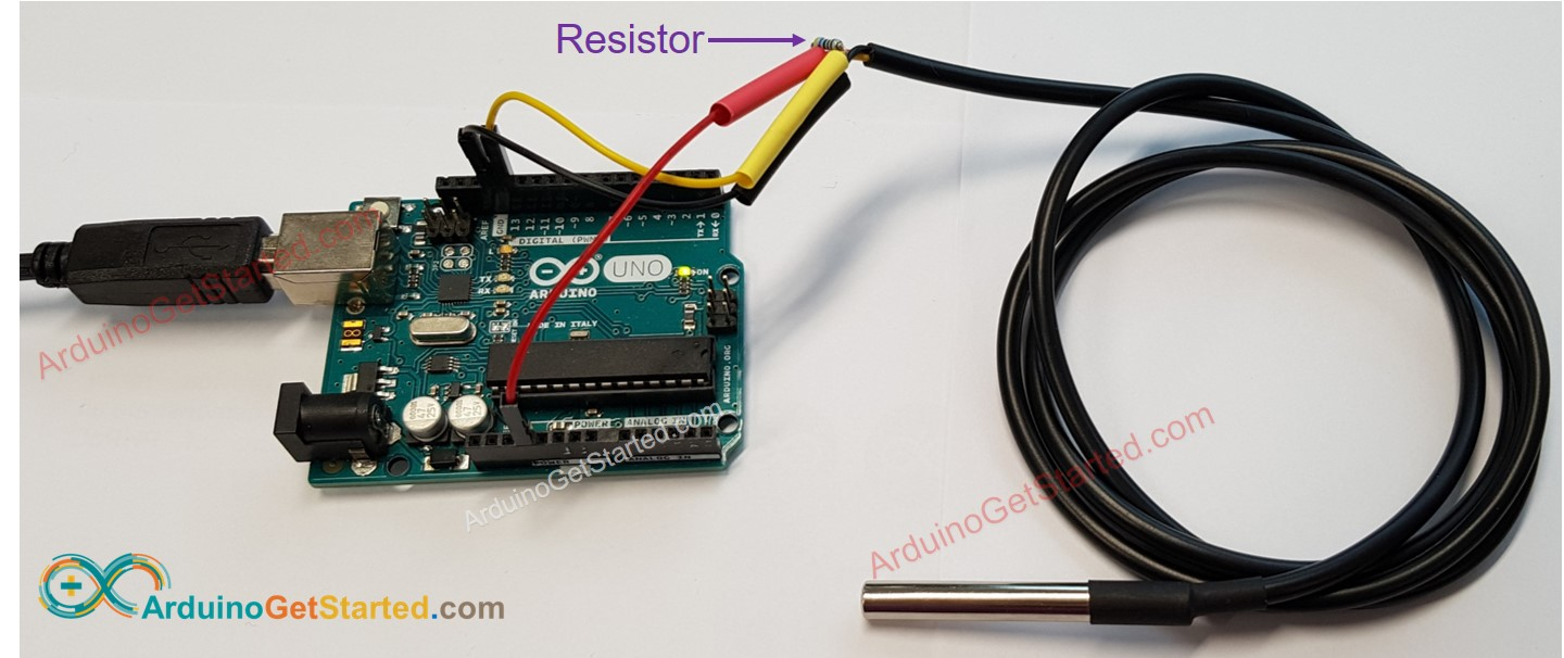 Arduino one wire temperature sensor Wiring Diagram