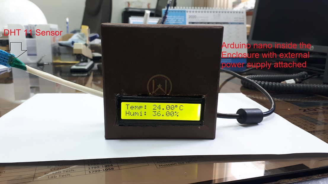 Arduino display temperature humidity on LCD
